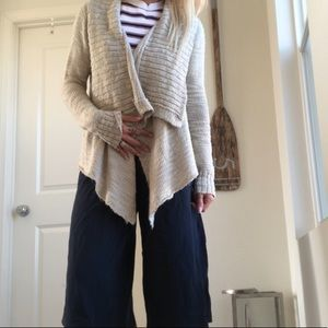 Shawl collar knit sweater